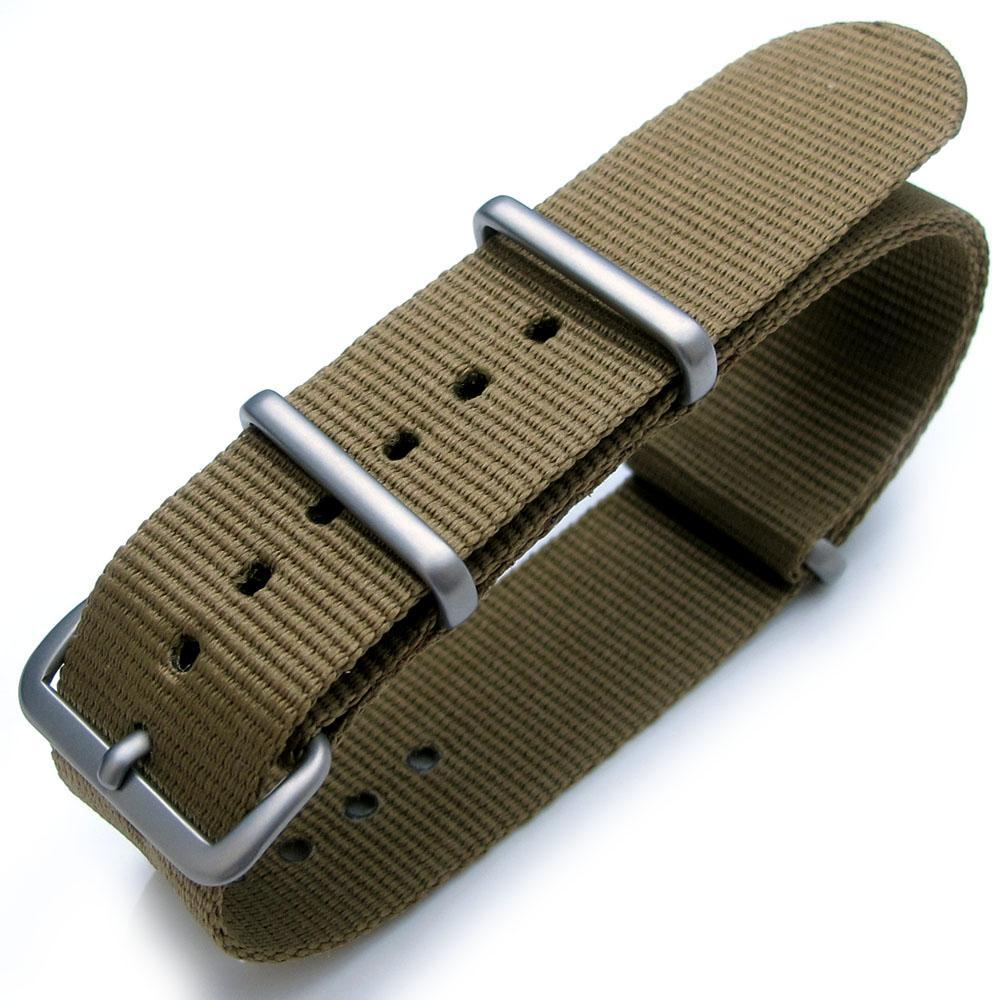 Military Green G10 Nato Watch Band Heat Sealed Heavy Nylon Brushed Buckle Strapcode Watch Bands