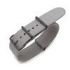 Nato 20mm or 22mm Heat Sealed Heavy Nylon PVD Black Buckle Light M. Grey Strapcode Watch Bands