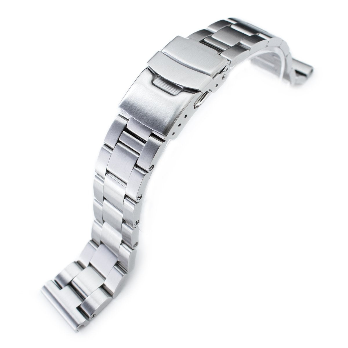20mm Super-O Boyer 316L Stainless Steel Watch Bracelet Straight End Brushed Strapcode Watch Bands