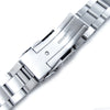 20mm Super-O Boyer Watch Band for Seiko Solar Power SSC015 316L SS Diver Clasp Brushed Strapcode Watch Bands