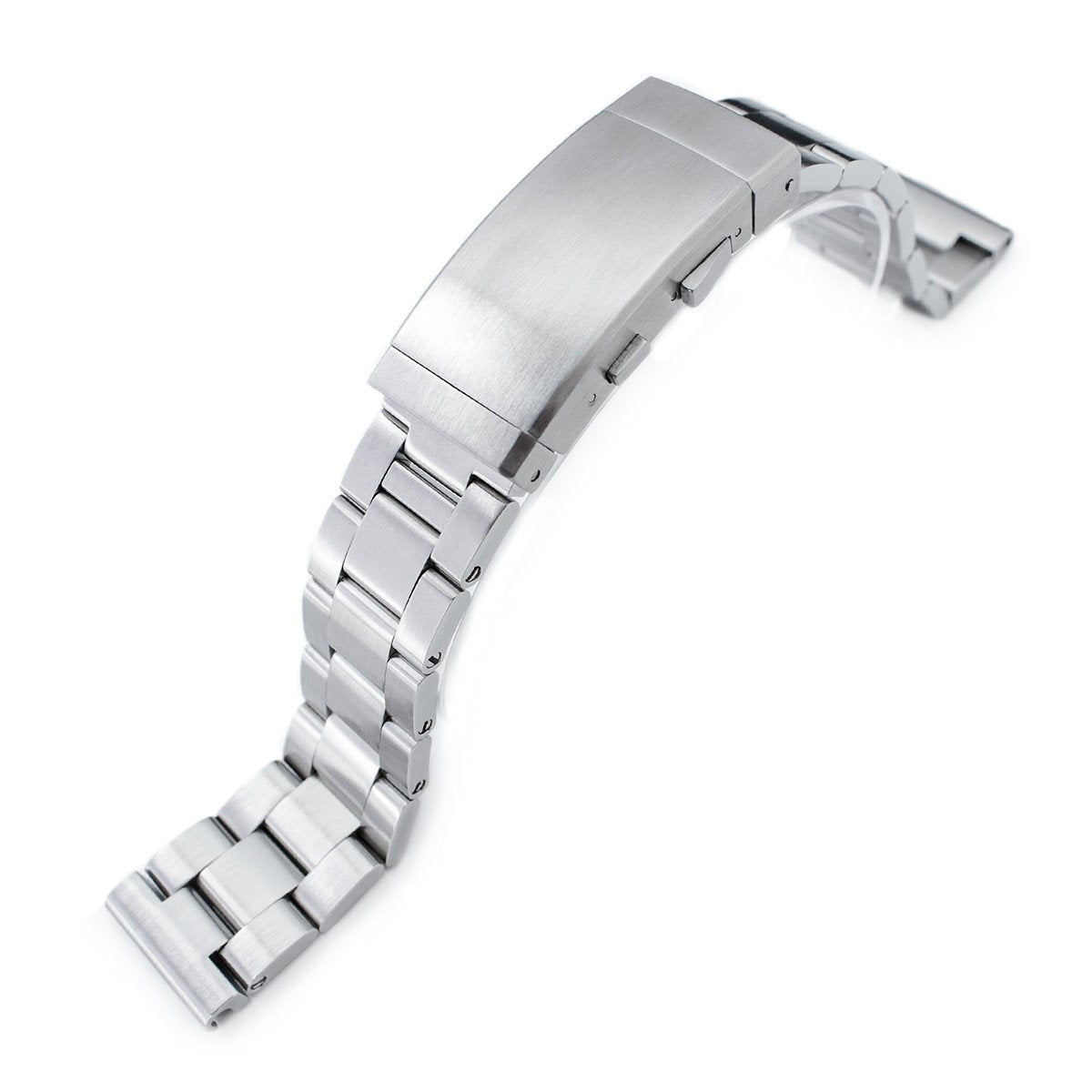 20mm Super-O Boyer 316L Stainless Steel Watch Bracelet Straight End Ratchet Clasp Brushed Strapcode Watch Bands