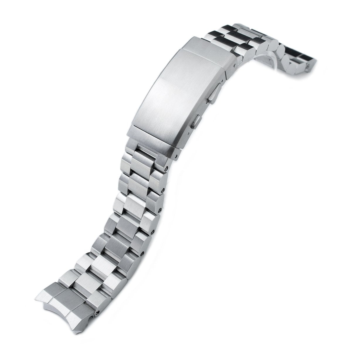 20mm Hexad 316L Stainless Steel Watch Band for Sumo SBDC001 Wetsuit Ratchet Buckle Strapcode Watch Bands