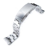 20mm Super-O Boyer 316L Stainless Steel Watch Band for Seiko SKX013 Wetsuit Ratchet Buckle Strapcode Watch Bands