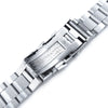 20mm Super-O Boyer 316L Stainless Steel Watch Band for Seiko Solar Power SSC015 Wetsuit Ratchet Buckle Strapcode Watch Bands