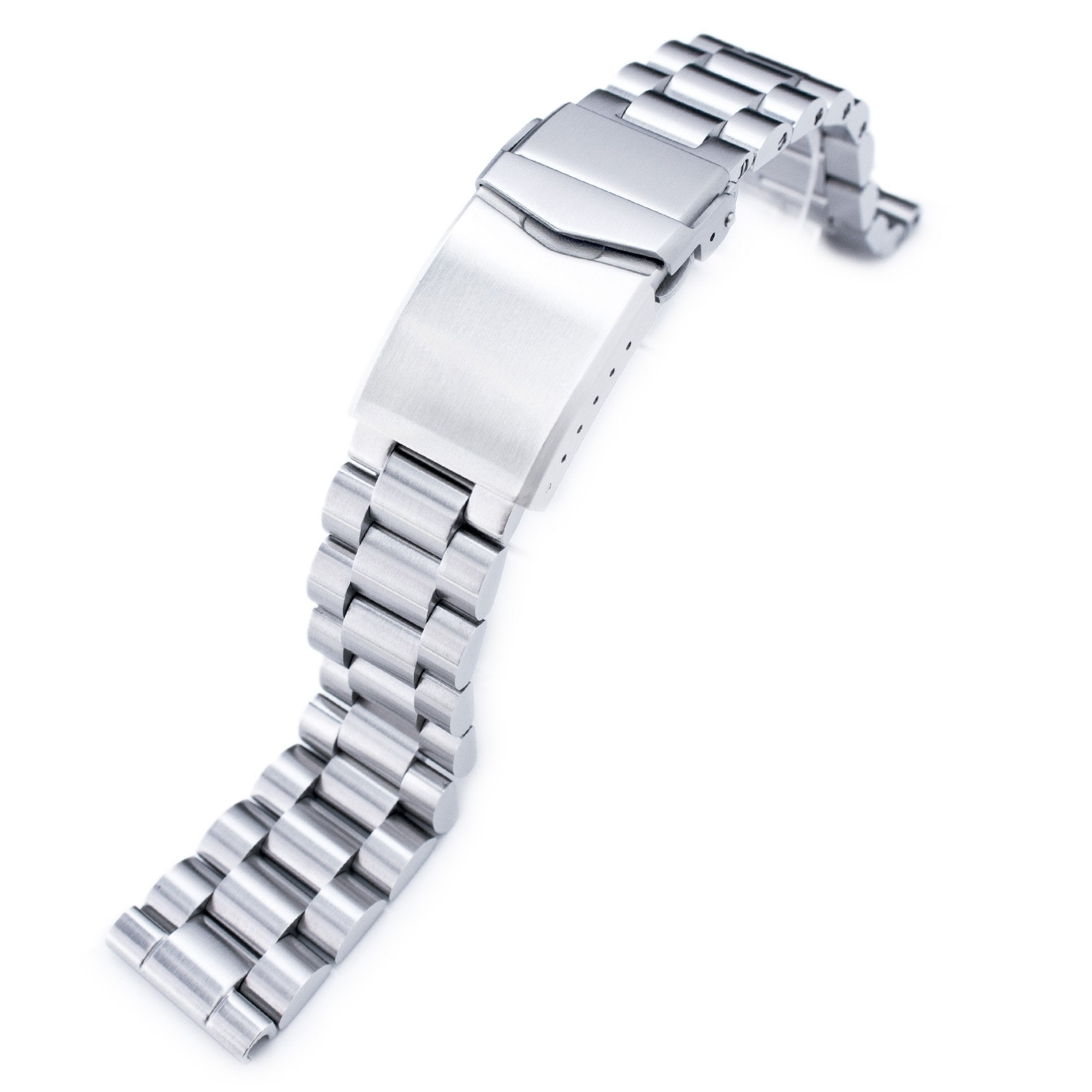 20mm Endmill Soid 316L Stainless Steel Watch Bracelet Straight End V-Clasp Button Double Lock Strapcode Watch Bands