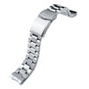20mm Hexad 316L Stainless Steel Watch Band for Seiko Sumo SBDC001 V-Clasp Button Double Lock Strapcode Watch Bands