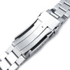 20mm Endmill 316L Stainless Steel Watch Band for Seiko Solar Power SSC015 V-Clasp Button Double Lock Strapcode Watch Bands