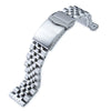 20mm Angus-J Louis 316L Stainless Steel Watch Bracelet Straight End Brushed Polished V-Clasp Strapcode Watch Bands