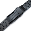 20mm Hexad 316L Stainless Steel Watch Band Straight Lug V-Clasp Button Double Lock PVD Black Strapcode Watch Bands