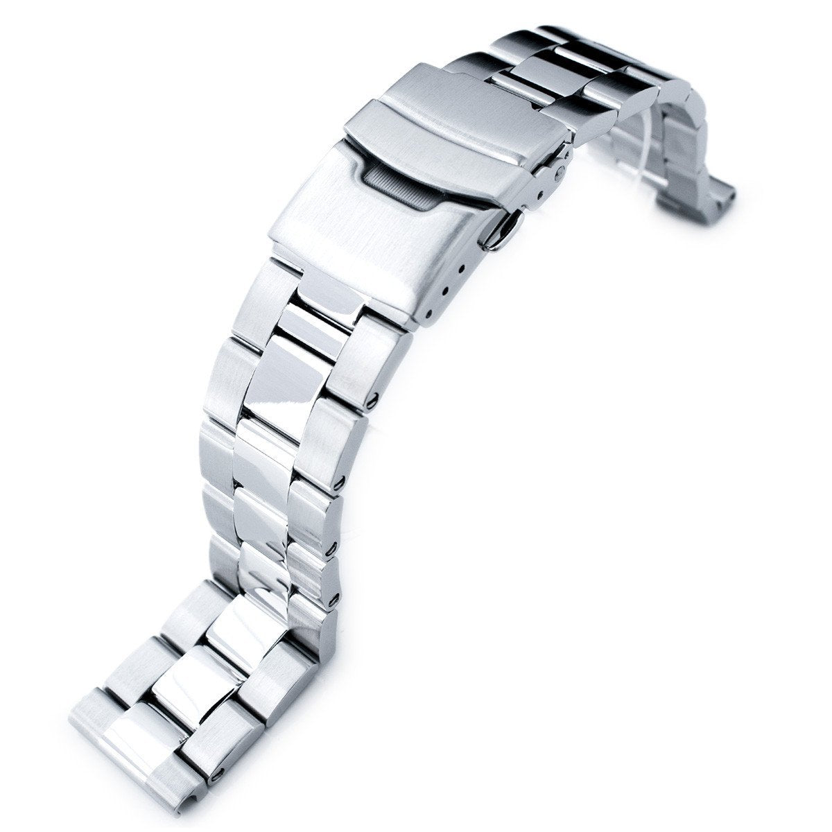 20mm Super-O Boyer Brushed & Polished 316L Stainless Steel Straight End Watch Bracelet Strapcode Watch Bands