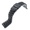 21.5mm Super-J Louis 316L SS Metal Watch Band for Seiko Tuna Diver Clasp PVD Black Strapcode Watch Bands