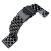 21.5mm SUPER Engineer Type II Solid Stainless Steel Watch Bracelet, Seiko Tuna Replacement Strap