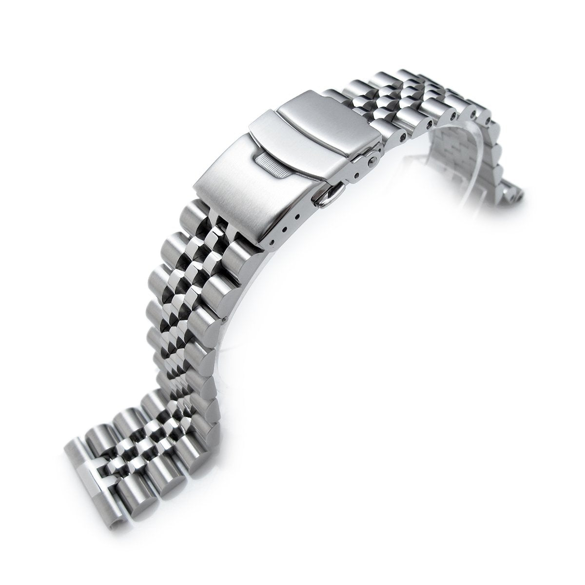 22mm Super-J Louis 316L Stainless Steel Watch Band Solid Straight End Diver Clasp Strapcode Watch Bands
