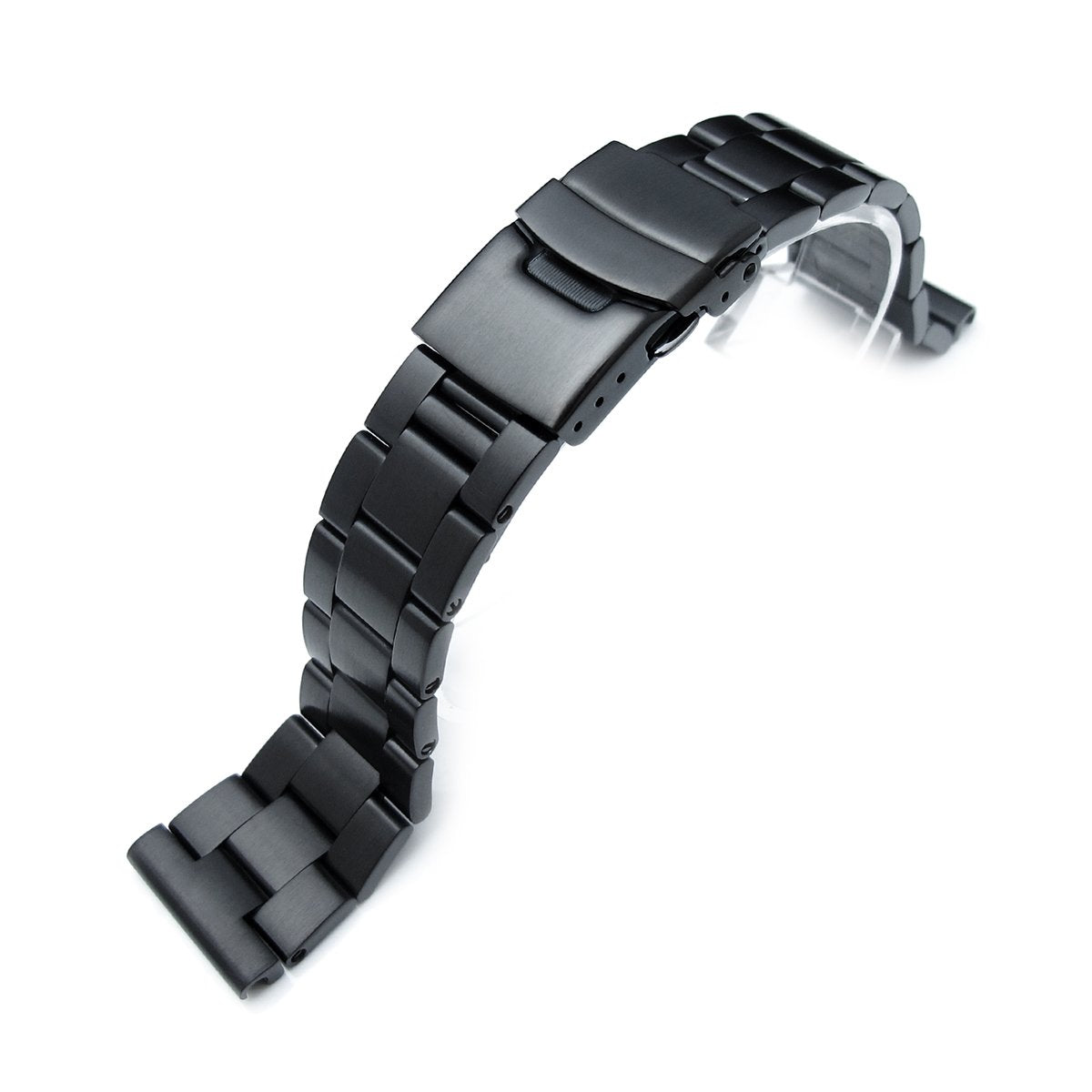22mm 316L Stainless Steel Super-O Boyer Watch Bracelet Straight End PVD Black Strapcode Watch Bands