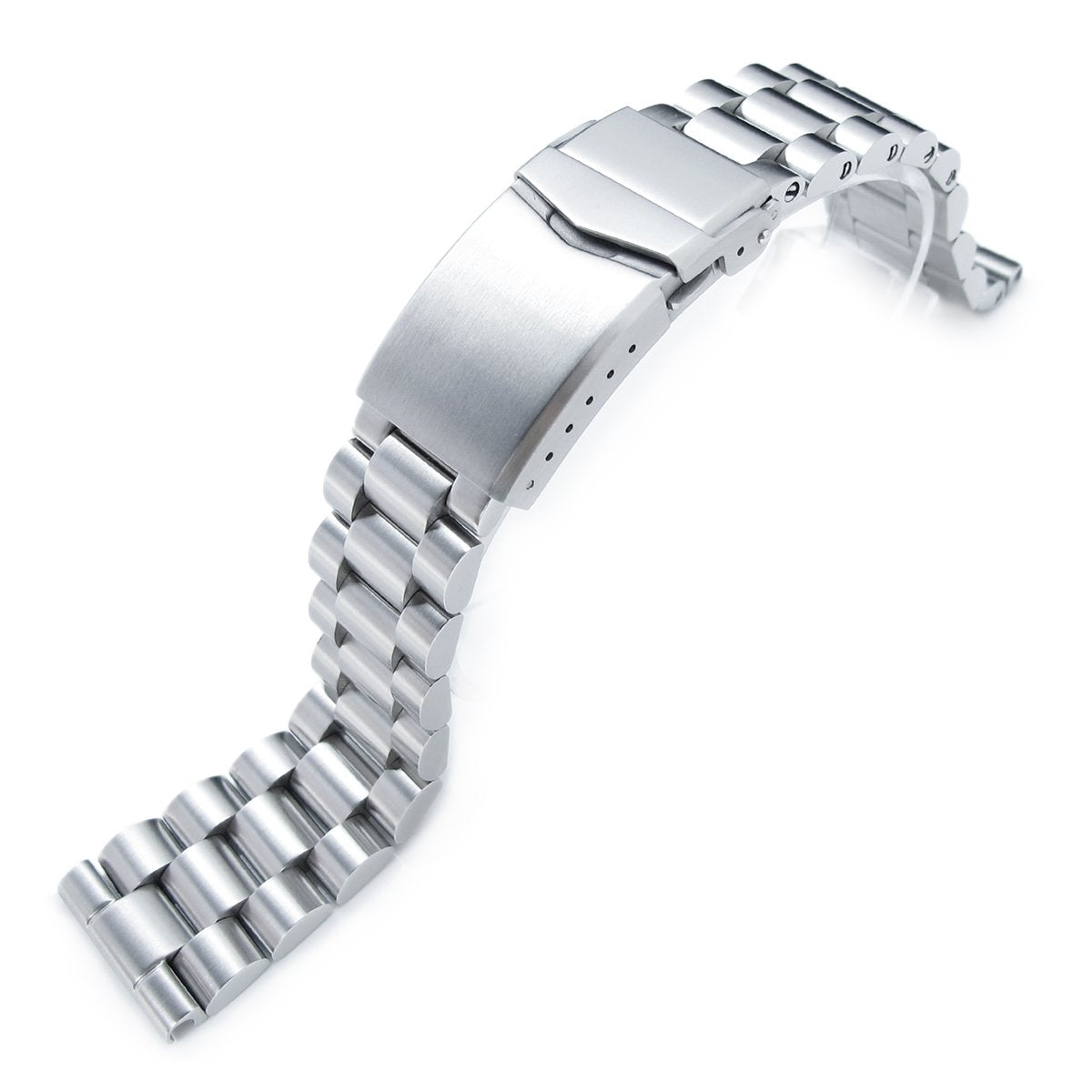 22mm Solid 316L Stainless Steel Endmill Metal Watch Bracelet Straight End V-Clasp Button Double Lock Strapcode Watch Bands