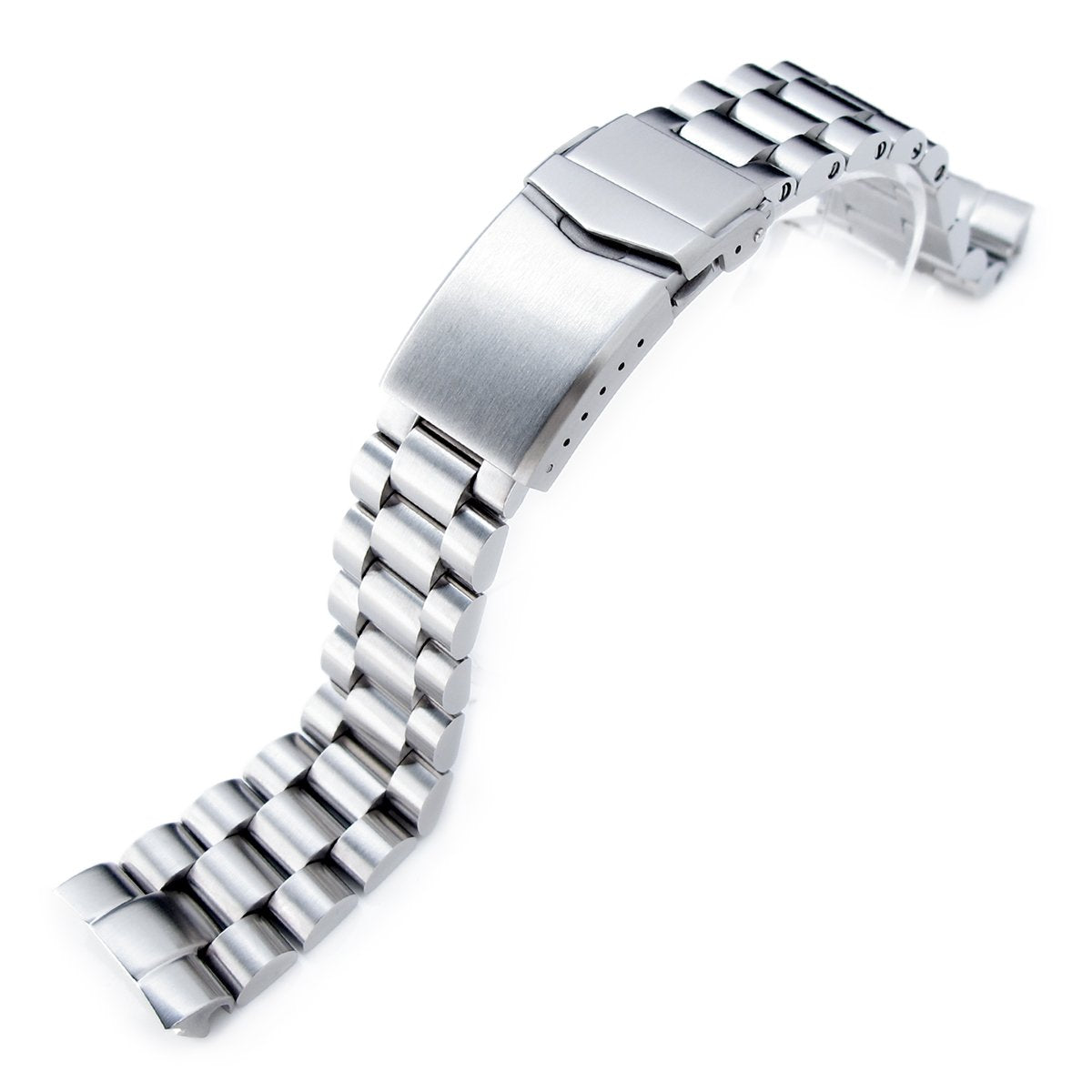 22mm Endmill 316L Stainless Steel Watch Bracelet for Seiko New Turtles SRP777 & PADI SRPA21 V-Clasp Brushed Strapcode Watch Bands