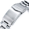 22mm Hexad 316L Stainless Steel Watch Band for Seiko New Turtles SRP777 & PADI SRPA21 V-Clasp Button Double Lock Brushed Strapcode Watch Bands