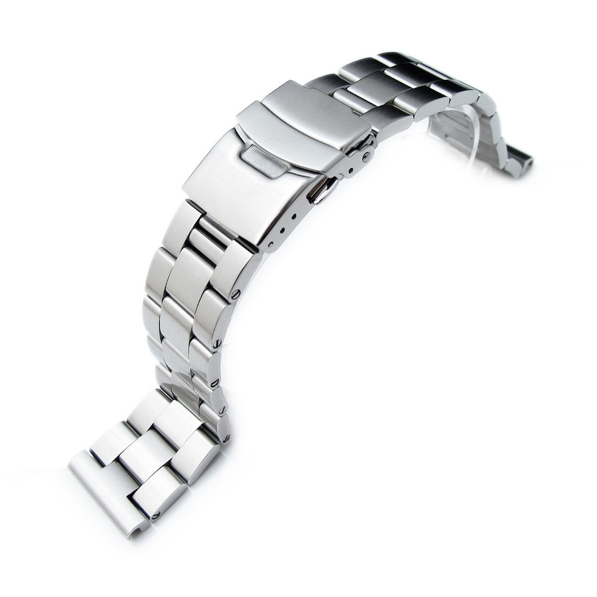 22mm Super-O Boyer 316L Solid Stainless Steel Straight End Watch Band Strapcode Watch Bands