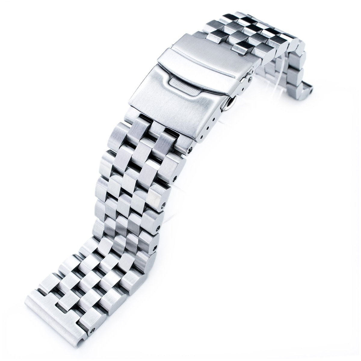 SUPER Engineer Type II Solid Stainless Steel Straight End Watch Band-Push Button Strapcode Watch Bands