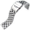 20mm 22mm or 24mm Polished Super Engineer Type I Solid Link 316L Stainless Steel Watch Bracelet Strapcode Watch Bands