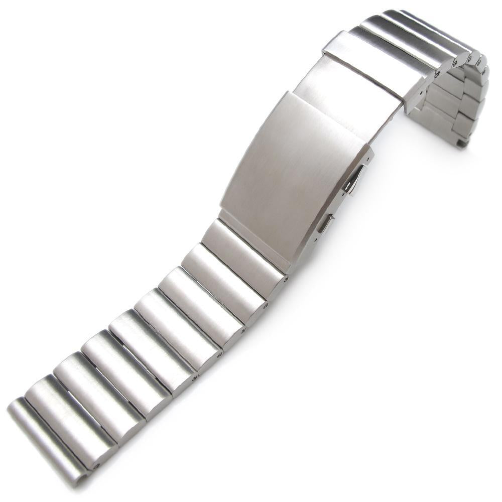 24mm Bandoleer 316L Straight End Stainless Steel Watch Band Diver Extension Clasp Strapcode Watch Bands
