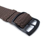 20mm 22mm MiLTAT Perlon Watch Strap Brown PVD Brushed Black Ladder Lock Slider Buckle Strapcode Watch Bands