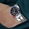 Seiko Mini-Turtle Prospex Automatic Dive Watch SPRC41K1 (PADI Edition) Pepsi Bezel Strapcode Watch Bands