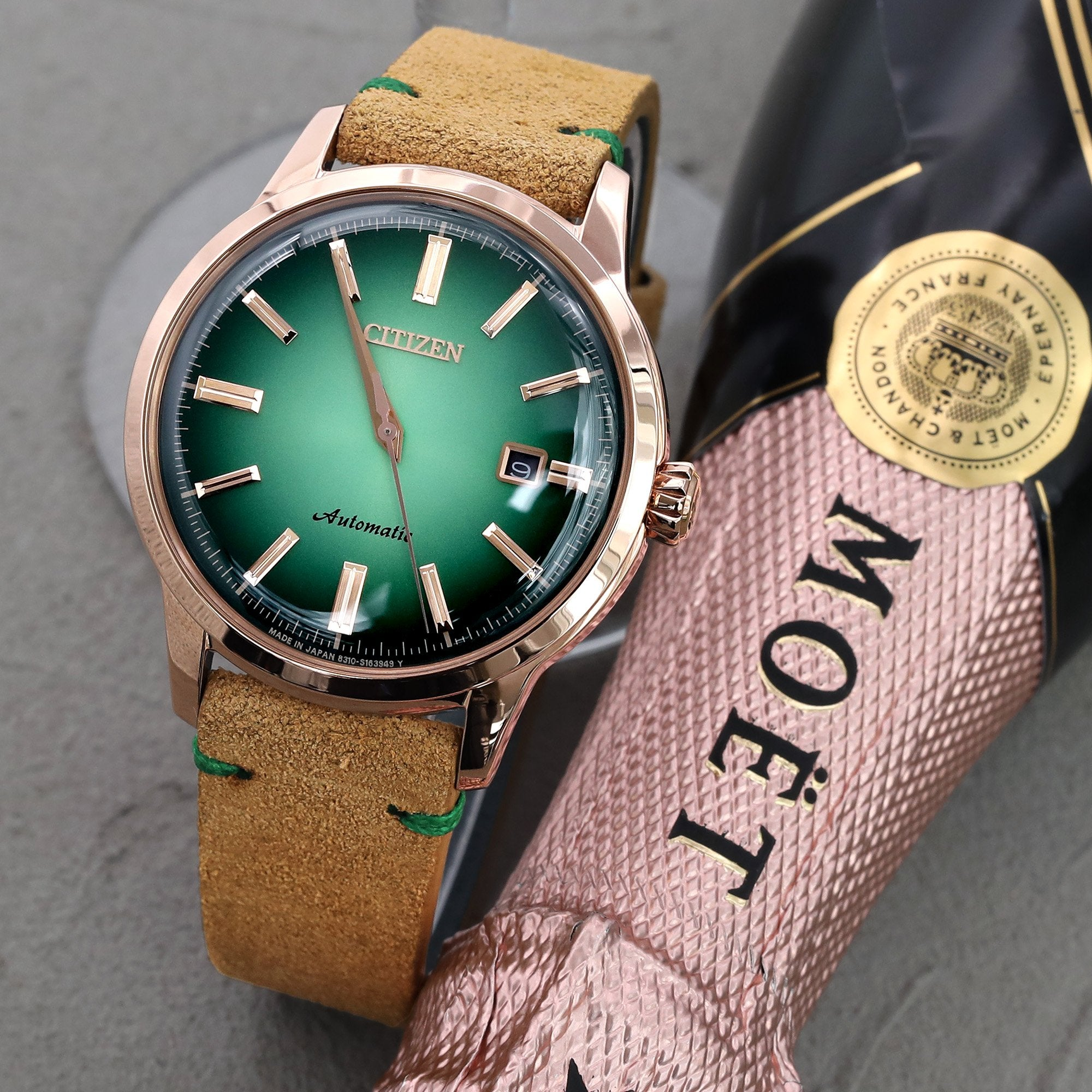 20mm Khaki Quick Release Italian Suede Leather Watch Strap Green St. Strapcode Watch Bands