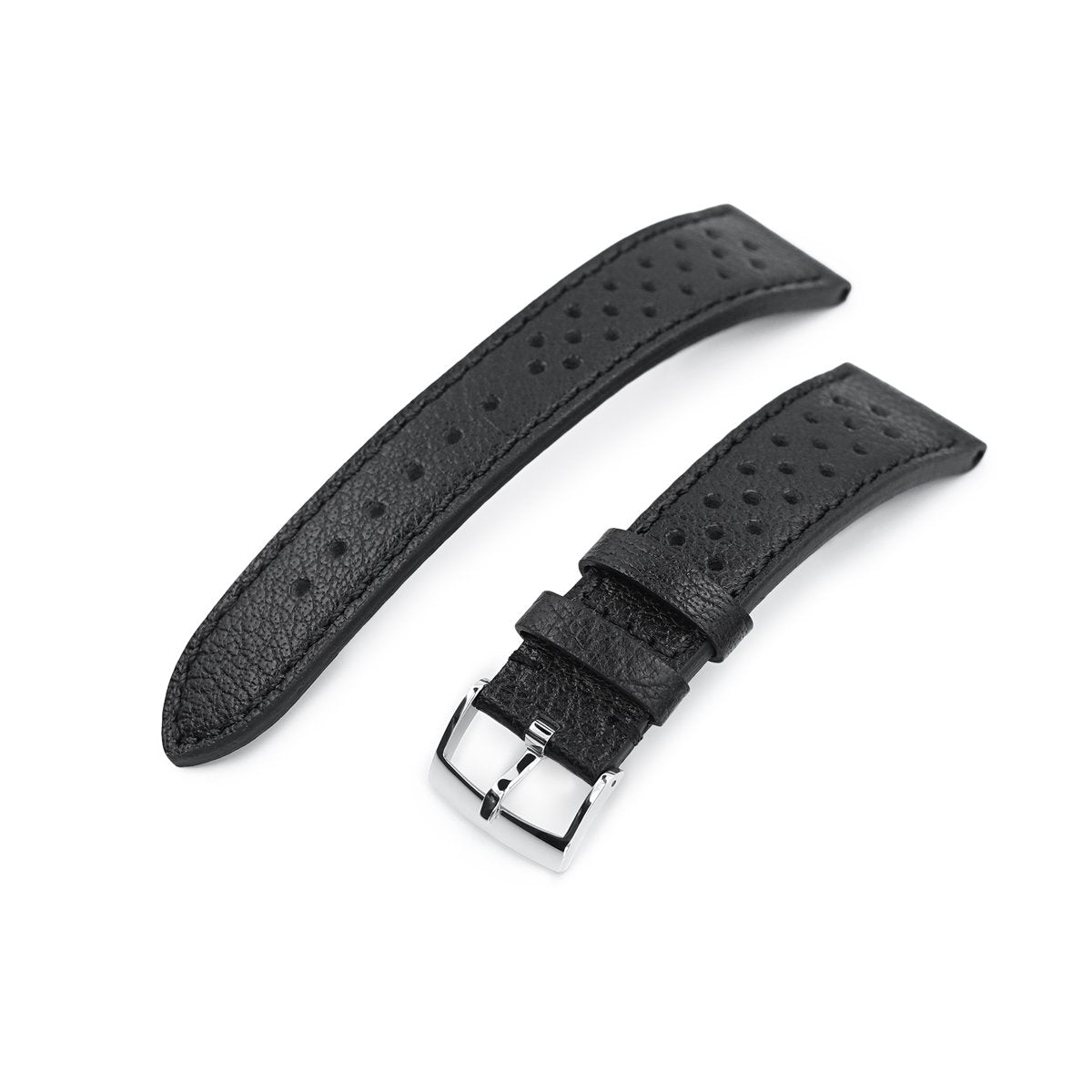 20mm or 22mm MiLTAT Rally Racing Watch Strap Black Strapcode Watch Bands
