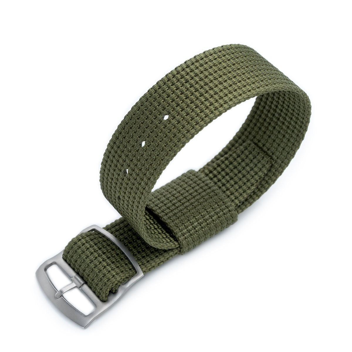 20mm or 22mm MiLTAT RAF N7 3-D Woven Nylon Nato Watch Strap Military Green Sandblasted Ladder Lock Slider Buckle Strapcode Watch Bands