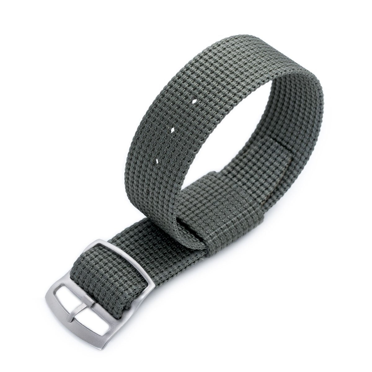 20mm or 22mm MiLTAT RAF N7 3-D Woven Nylon Nato Watch Strap Military Grey Sandblasted Ladder Lock Slider Buckle Strapcode Watch Bands