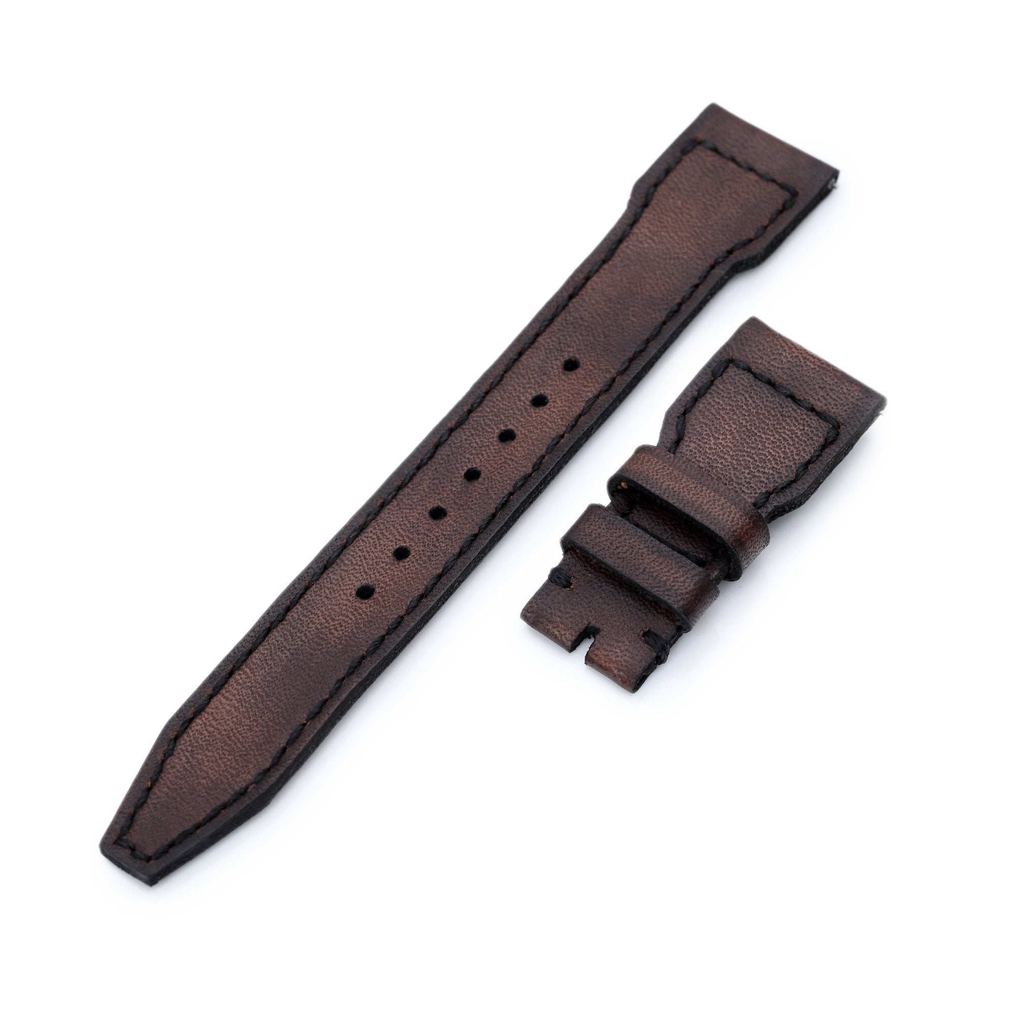 22mm Gunny X MT Dark Brown Handmade for IWC Big Pilot Quick Release Leather Watch Strap Strapcode Watch Bands