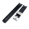 20mm Crafter Blue Black Rubber Curved Lug Watch Band for Seiko Sumo SBDC001 Strapcode Watch Bands
