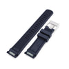 22mm Crafter Blue CB10 Blue Rubber Curved Lug Watch Band for Seiko 5 Strapcode Watch Bands