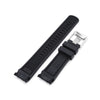 22mm Crafter Blue CB10 Black with Carbon Texture Center Rubber Curved Lug Watch Band for Seiko SKX007 Strapcode Watch Bands