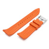 20mm or 22mm Straight End Orange FKM Rubber Quick Release Watch Band Brushed Strapcode Watch Bands