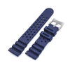 22mm Quick Release Watch Band Blue Diver FKM Rubber Strap Brushed Strapcode Watch Bands