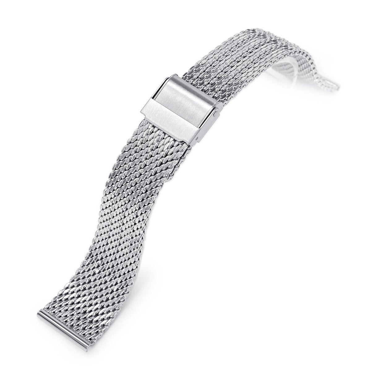 20mm Milanese Bony Wire Mesh Band Polished Strapcode Watch Bands
