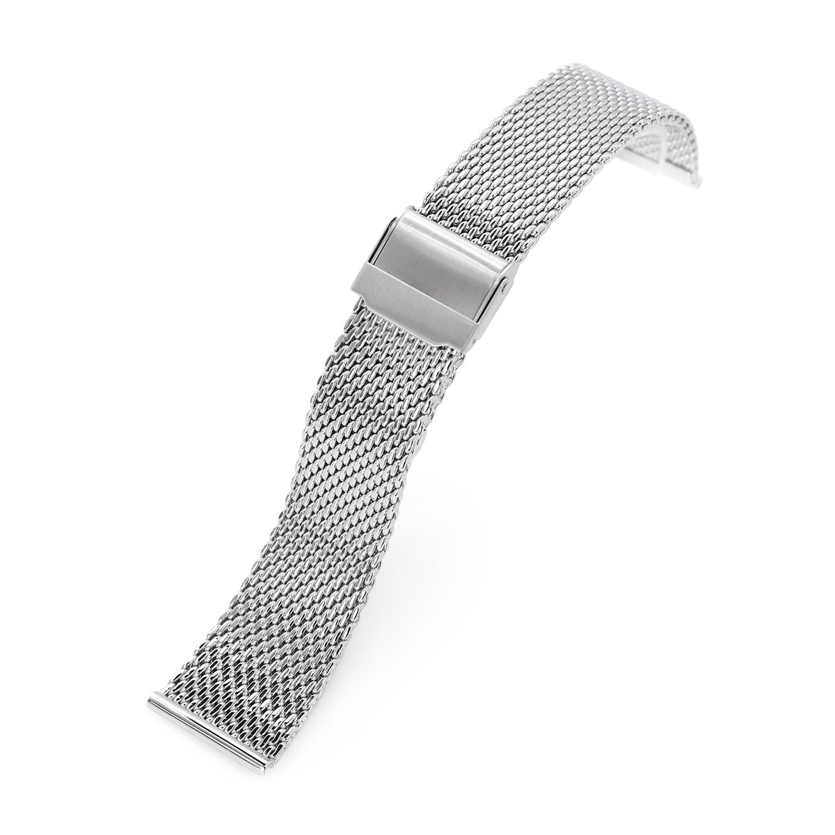 20mm 22mm Tapered Milanese Wire Mesh Band Polished Strapcode Watch Bands