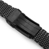 "20mm Tapered ""SHARK"" Mesh Band Stainless Steel Watch Bracelet V-Clasp PVD Black Strapcode Watch Bands"