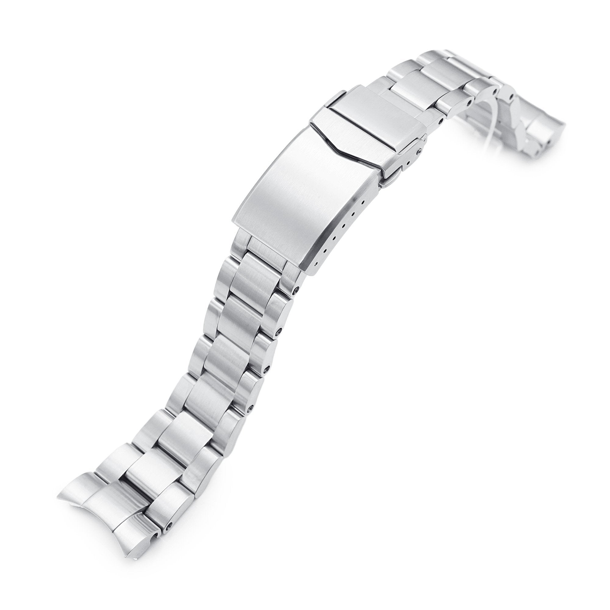 20mm Super-O Boyer 316L Stainless Steel Watch Bracelet for TUD BB58 Brushed V-Clasp Strapcode Watch Bands