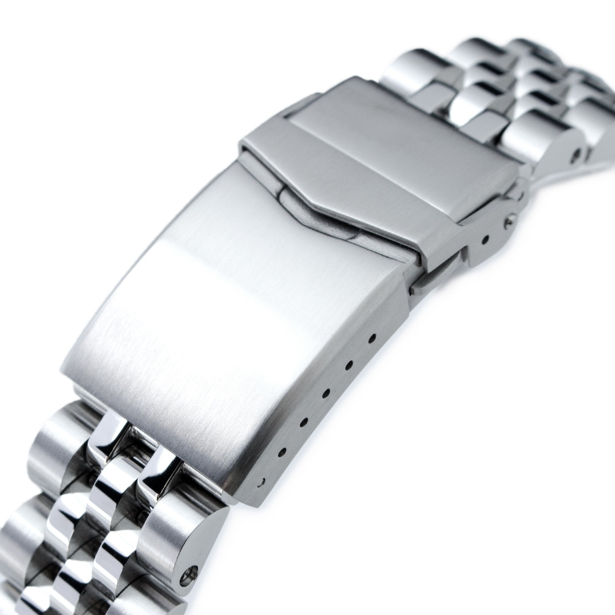 20mm Angus-J Louis 316L Stainless Steel Watch Bracelet for TUD BB58 Brushed V-Clasp Strapcode Watch Bands