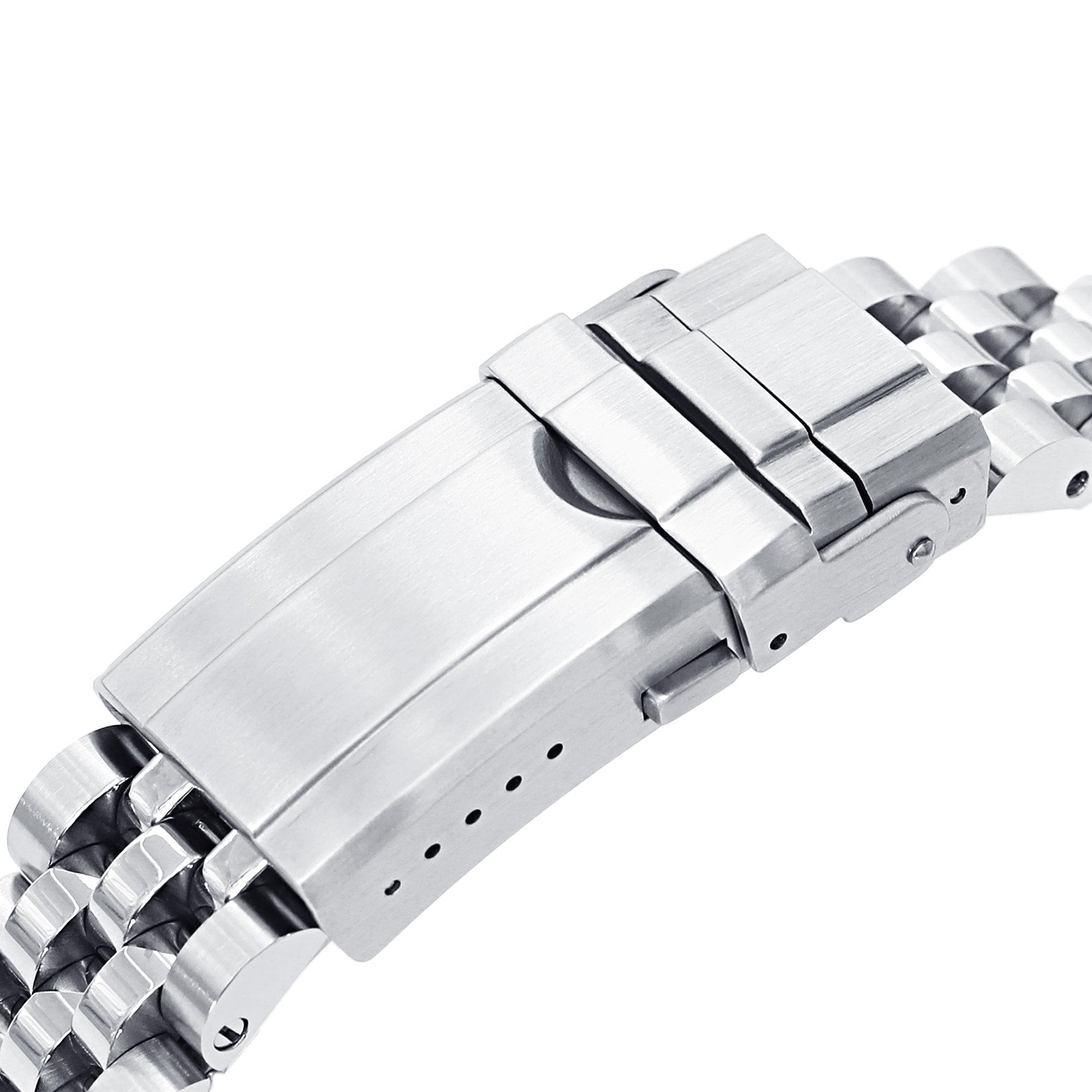 20mm Angus-J Louis 316L Stainless Steel Watch Bracelet for TUD BB58 Brushed Turning Clasp Strapcode Watch Bands