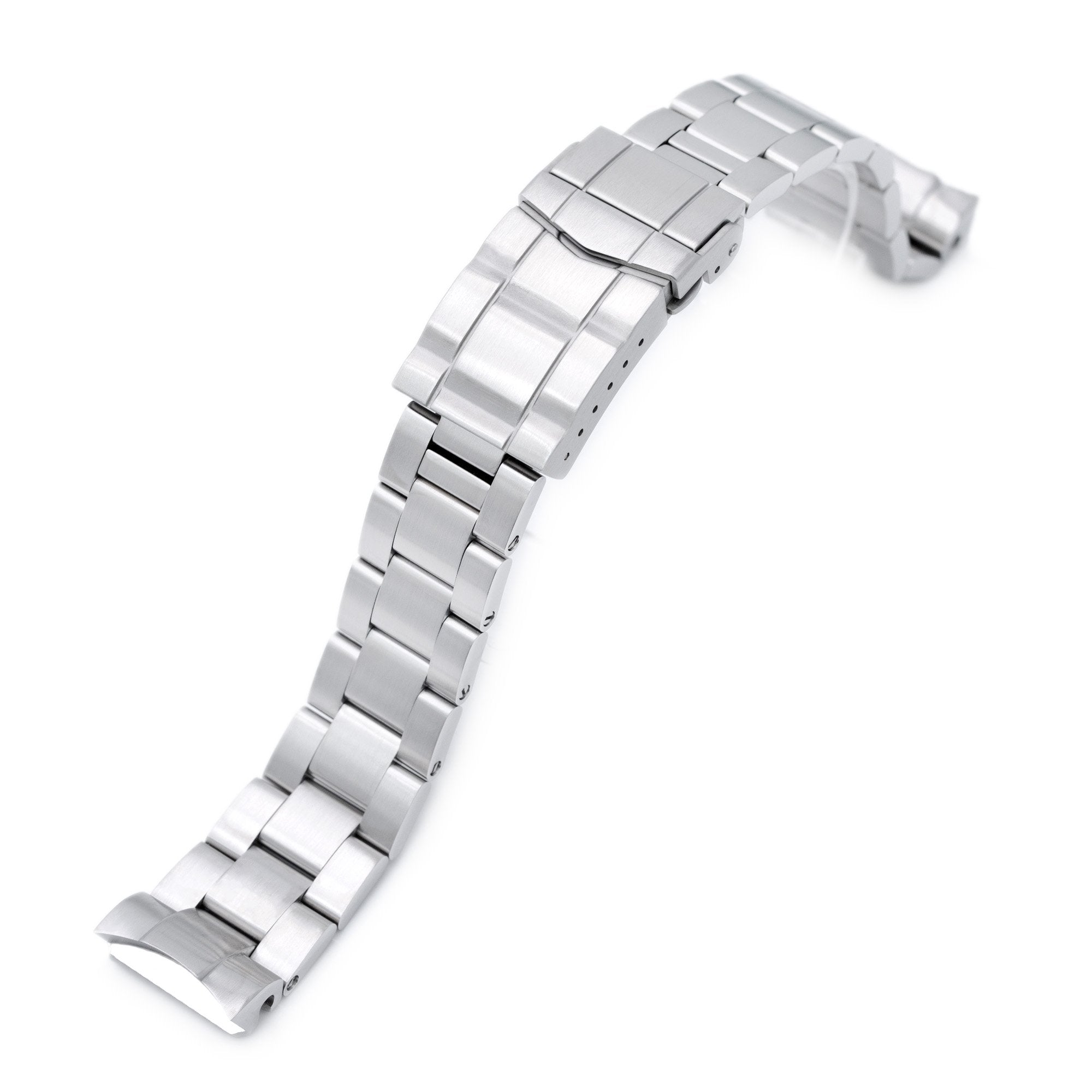 20mm Super-O Boyer watch band for Seiko MM300 Prospex Marinemaster SBDX001 SBDX017, Brushed, Solid SUB Clasp Strapcode Watch Bands