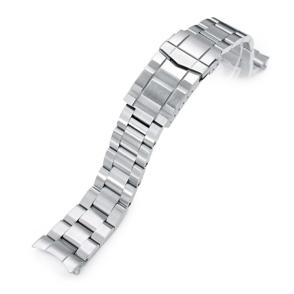 20mm Super-O Boyer 316L Stainless Steel Watch Bracelet for Seiko Cocktail SSA345 SUB Clasp Brushed Strapcode Watch Bands