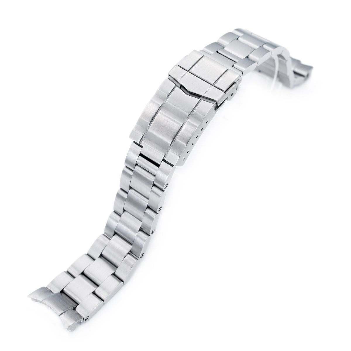 20mm Super-O Boyer 316L Stainless Steel Watch Bracelet for Seiko Mechanical Automatic SARB035 SUB Clasp Brushed Strapcode Watch Bands