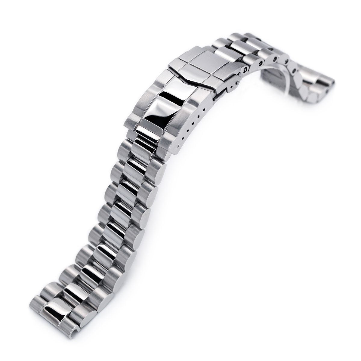20mm Endmill Solid 316L Stainless Steel Watch Bracelet Straight End Brushed & Polished SUB Clasp Strapcode Watch Bands