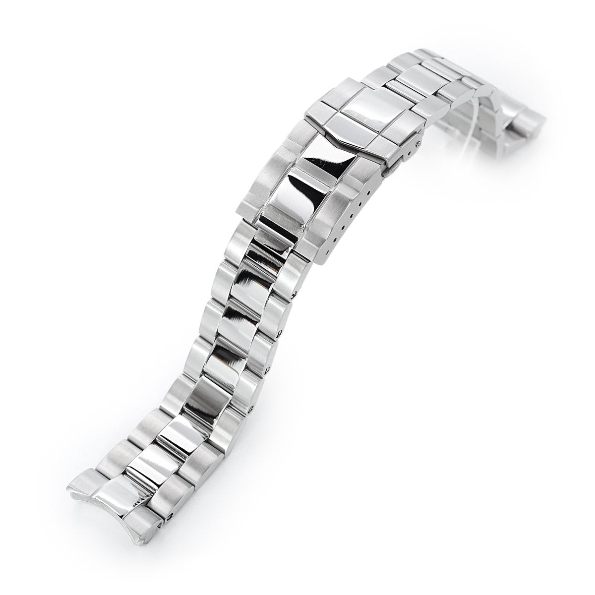 20mm Super-O Boyer 316L Stainless Steel Watch Bracelet for Seiko Mini Turtles SRPC35 SUB Clasp Polished & Brushed Strapcode Watch Bands