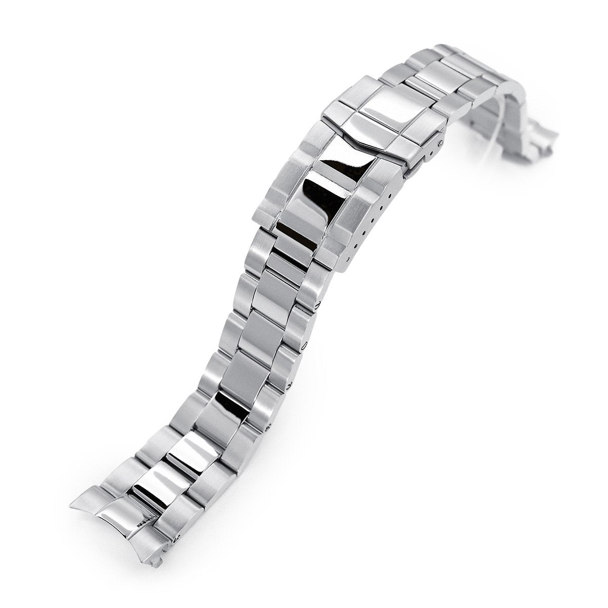 20mm Super-O Boyer 316L Stainless Steel Watch Bracelet for Seiko Cocktail SSA345 Brushed & Polished SUB Clasp Strapcode Watch Bands