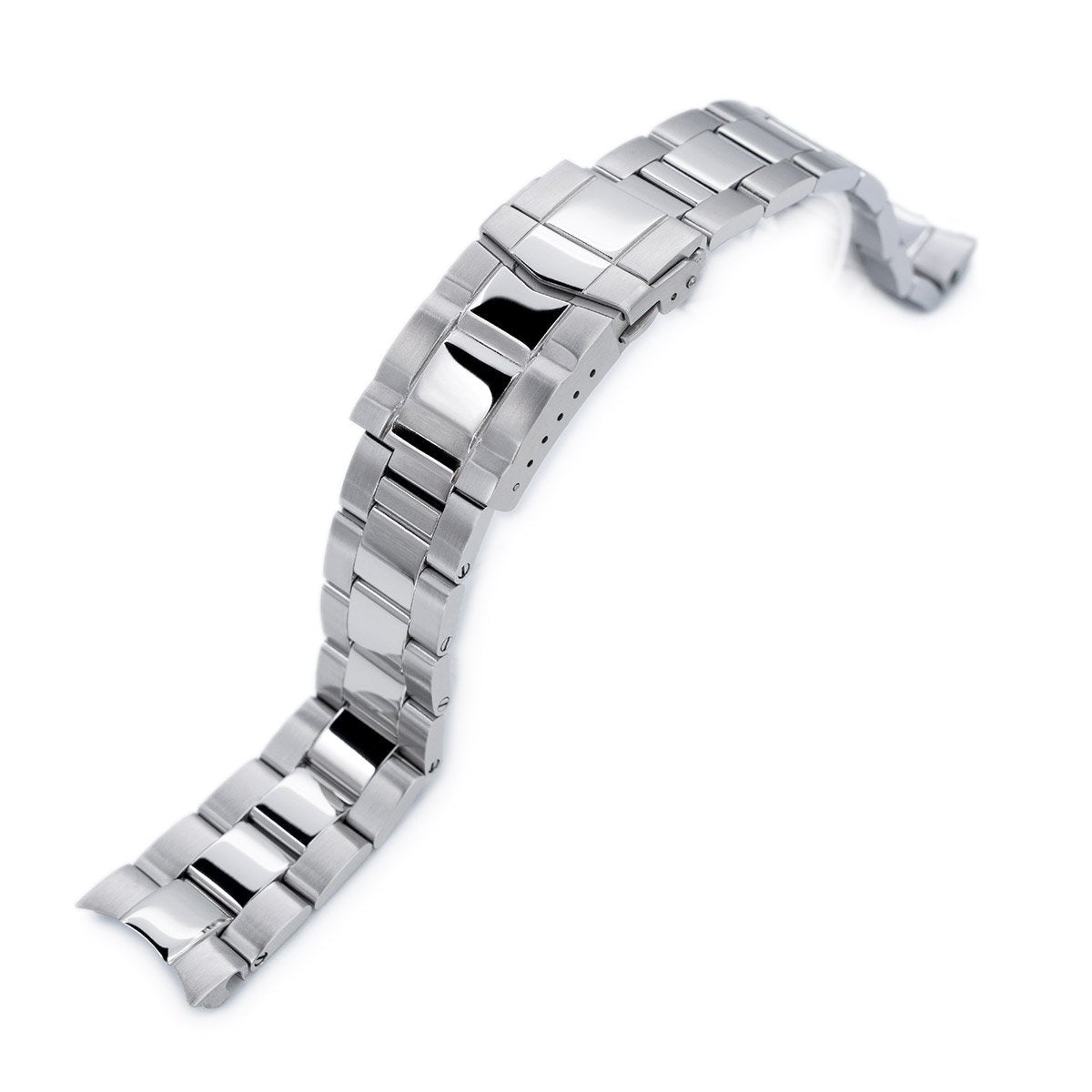 20mm Super-O Boyer 316L Stainless Steel Watch Bracelet for Seiko Mechanical Automatic SARB035 Polished & Brushed SUB Clasp Strapcode Watch Bands